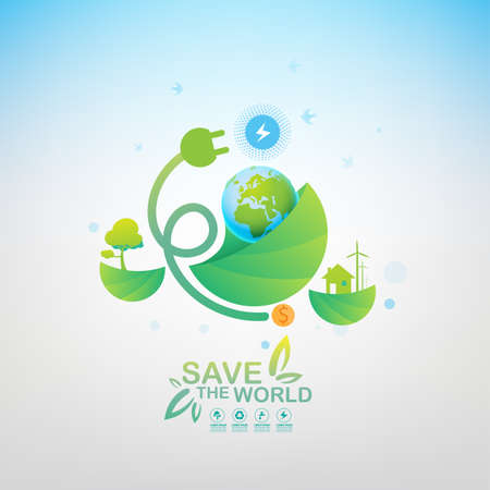 Save the World Vector Illustration