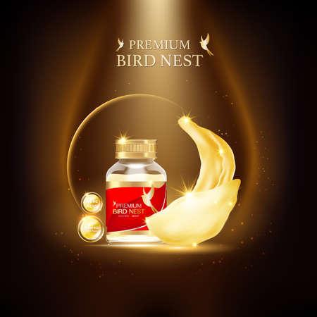 Nid d'oiseau Premium background Concept vecteur pour les produits.
