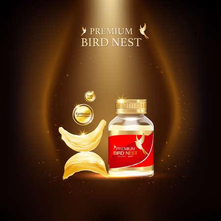 Vecteur de concept de fond de nid d'oiseau Premium pour les produits.