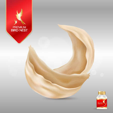 Bird Nest Premium background Concept Vector for Products. Banque d'images - 108270764