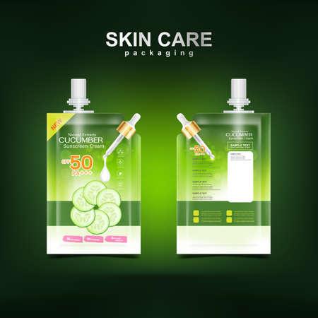 Cucumber Cream Collagen and Serum plus vitamin