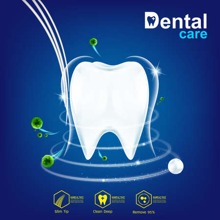 Tooth or Dental care Vector 일러스트