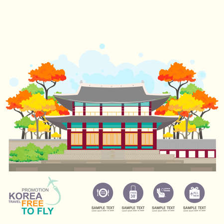 Korea Travel Vector Concept Promotion Travel around the World