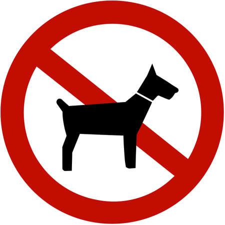 No dogs allowed (illustration sign) illustration