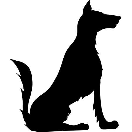 sit stay: Illustration of a sitting dog
