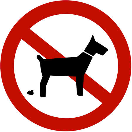 warden: No pooping perros admitidos (signo)