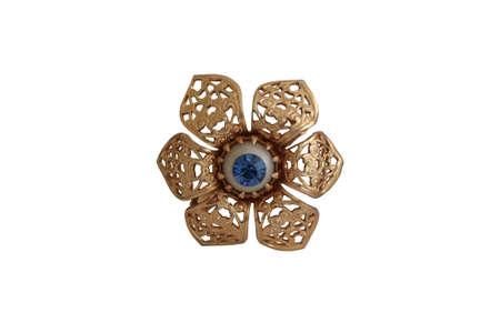 brooch: Vintage brooch with blue diamond