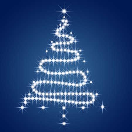 lighted: Christmas tree made of stars