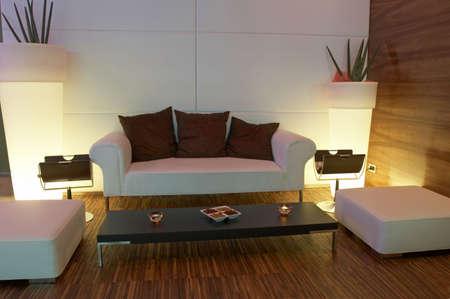Modern decor waiting room Stock Photo
