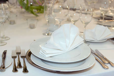 Plate and napkin Stock Photo - 2515645