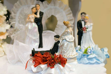 Bride and Groom Wedding Cake Ornaments of your choice photo