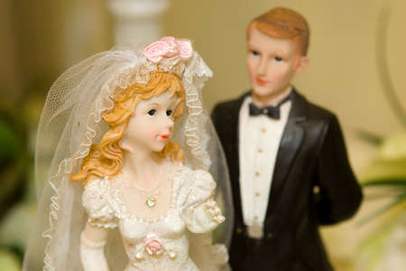 Bride and Groom Wedding Cake Ornament photo