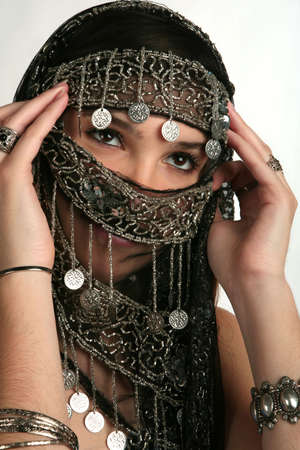 Arabianindian woman with her face covered