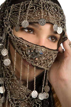 costume jewelry: Arabianindian woman with her face covered