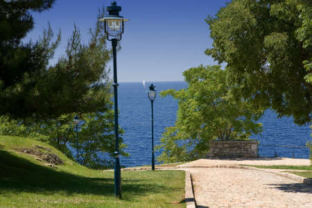 city park: Beautiful park by the sea