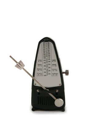 Metronome isolated on white photo