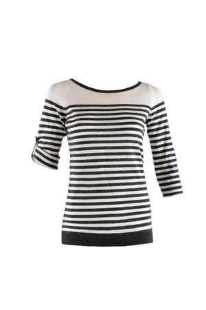 striped shirt: Striped female shirt isolated on white Stock Photo