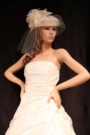 Wedding dress on mannequin photo