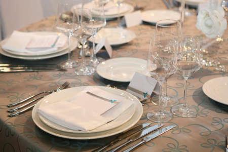 Detail einer Hochzeit Abendessen Einstellung Standard-Bild - 8493167