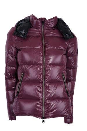 Female winter jacket isolated on white photo