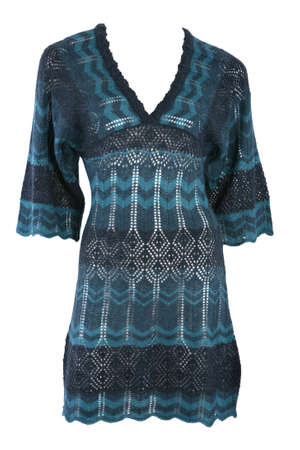 tunic: Female knit tunic isolated on white