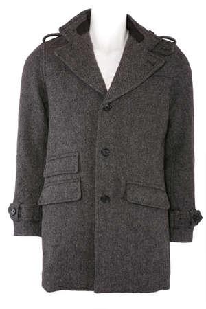 Woolen Wintermantel, isoliert auf weiss Standard-Bild - 8662779