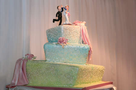 Fancy three tiered wedding cake