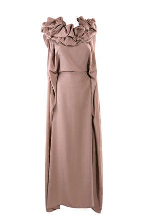 Beige designer dress, isolated on white Stock Photo - 9198453