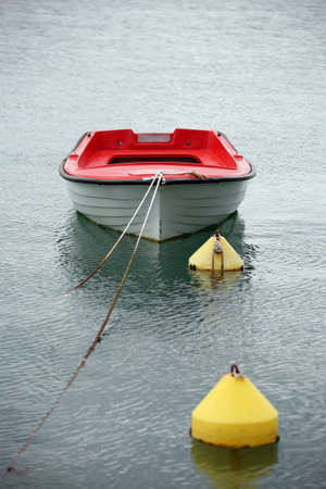 Lonely boat in the water Stock Photo - 9883874