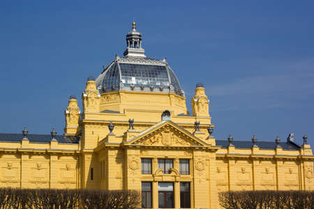 specifically: Art Pavilion in Zagreb is an art gallery in Zagreb, Croatia. Established in 1898, it is the oldest gallery in the Southeast Europe and the only purpose-built gallery in Zagreb designed specifically to accommodate large scale exhibitions.