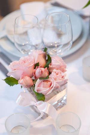 Detail einer Hochzeit Abendessen Einstellung Standard-Bild - 16033093