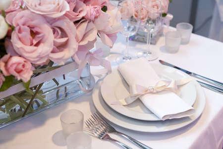 Detail einer Hochzeit Abendessen Einstellung Standard-Bild - 16033097