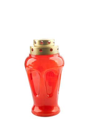 votive candle: Candle lantern isolated on white background