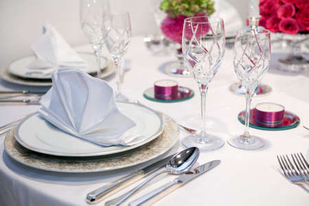 Elegant dinner party Stock Photo