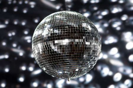 discoball: Shiny disco ball in a nightclub