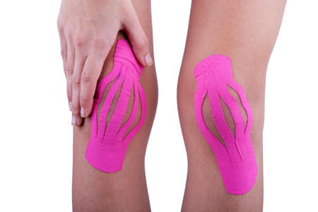 tex: Therapy with kinesio tex tape Stock Photo