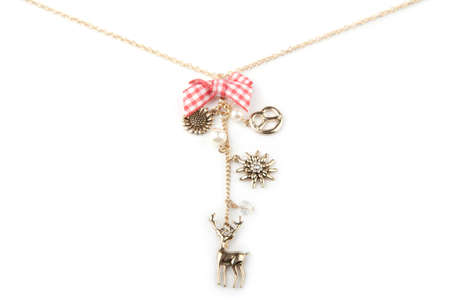 Lucky charm necklace, isolated on white Stock Photo - 16633286