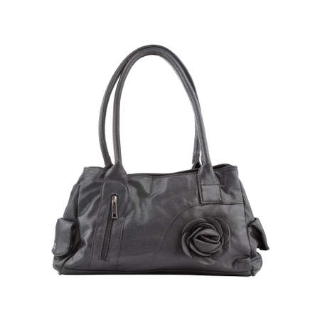vanity bag: Elegant female bag, isolated on white Stock Photo
