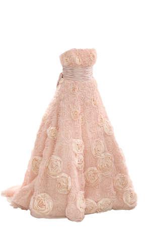 tulle: Weddings dress isolated on white