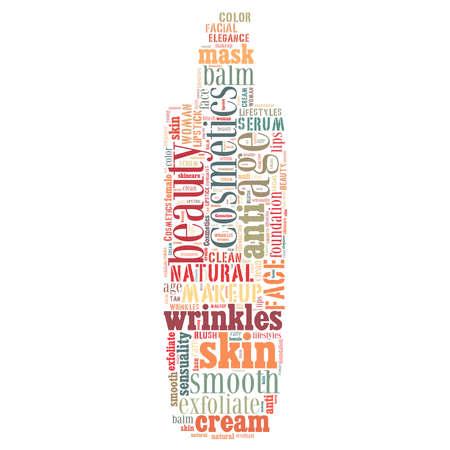 Kosmetik und Make-up-Wort-Wolke Standard-Bild - 20901328
