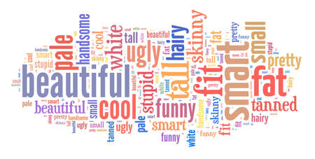 Personal attributes word cloud Stock Photo