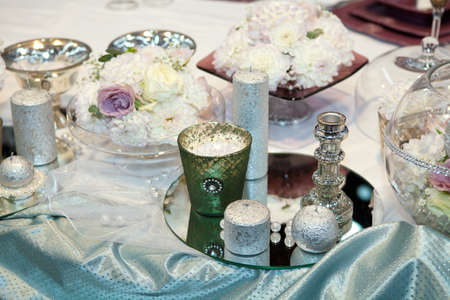 Elegant wedding decorations photo
