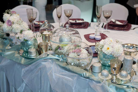 Elegant wedding dinner photo