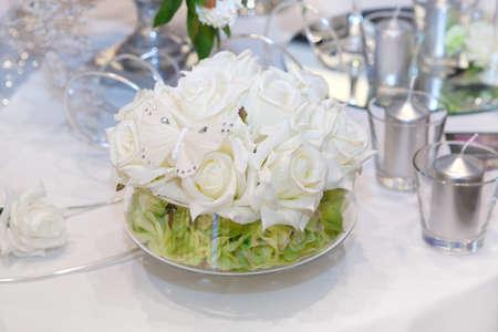 Elegant wedding decorations photo