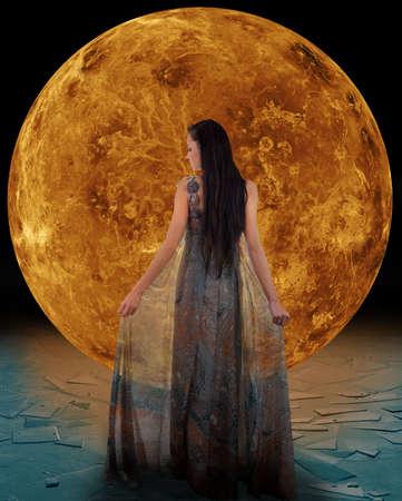 Eis-Fee vor einem Venus-Elemente Standard-Bild - 24065543
