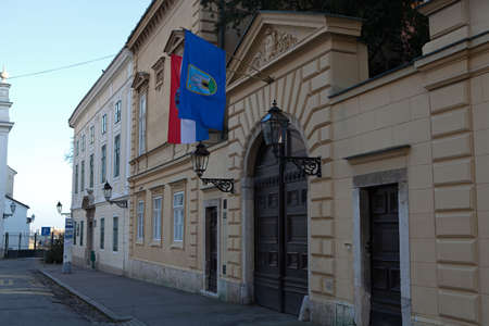 ZAGREB, CROATIA - JANUARY 12, 2014: Buildings at the upper town of Zagreb, capital of Croatia photo