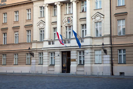 The Croatian Sabor or Parliament in Zagreb, Croatia. The current building dates from the beginning of the 20 th century. photo