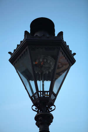 gas lamp: Old gas lamp at the Upper Town of Zagreb, Croatia that date back to the beginning of the 19th century