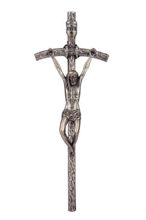 The Bent Cross Crucifix, that was using Pope John Paul II, sometimes referred to as the  Broken Cross    Stock Photo