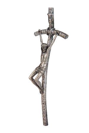 The Bent Cross Crucifix, that was using Pope John Paul II, side view Stock Photo